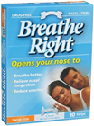 Breathe Right Nasal Clear Large 10 Strips