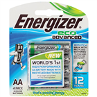 Energizer Eco Advanced AAA Battery 4 Pack