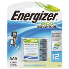 Energizer Eco Advanced AA Battery 4 Pack