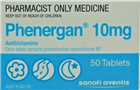 Phenergan 10mg 50 Tablets