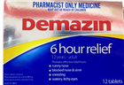 Demazin 6 Hour Relief 12 Tablets