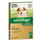 Advantage Flea Treatment For Puppies and Small Dogs 4kg