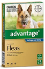 Advantage Flea Treatment For Dogs Over 25kg 4 Tablets