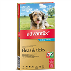 Advantix Flea And Tick Treatment for Dogs 410kg 6 Tablets