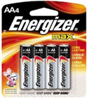 Energizer Battery MAX AA Batteries E91 4 Pack