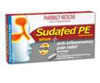 Sudafed PE Sinus  Anti  Inflammatory Pain Relief 24 Tablets