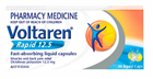 Voltaren Rapid 125mg x 20 Liquid Capsules