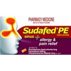 Sudafed PE Sinus  Allergy  Pain Relief 48 Tablets