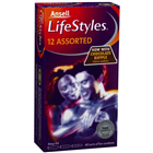 Ansell Lifestyles 12 Assorted Condoms