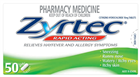 Zyrtec 10mg 50 Tablets