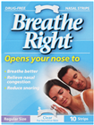 Breathe Right Nasal Clear Regular 10 Strips